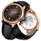 Montre Tissot T-Gold Fascination Gent quartz cadran marron bracelet cuir brun 40 mm