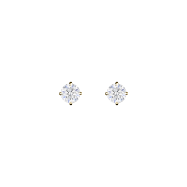 Boucles d'oreilles Evidence en or jaune diamants