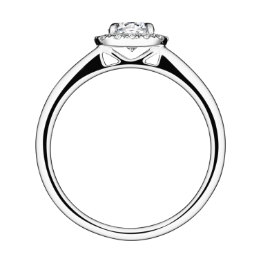 Solitaire Lepage Jolie-Rose en or blanc diamants