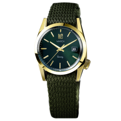 Montre March LA.B Seventy 6 Electric bracelet Perlon kaki 36 mm