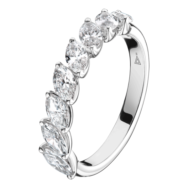 Alliance Lepage Suzanne en or blanc diamants