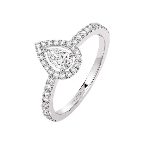 Bague Messika Joy en or blanc et diamant poire 0,25 carat