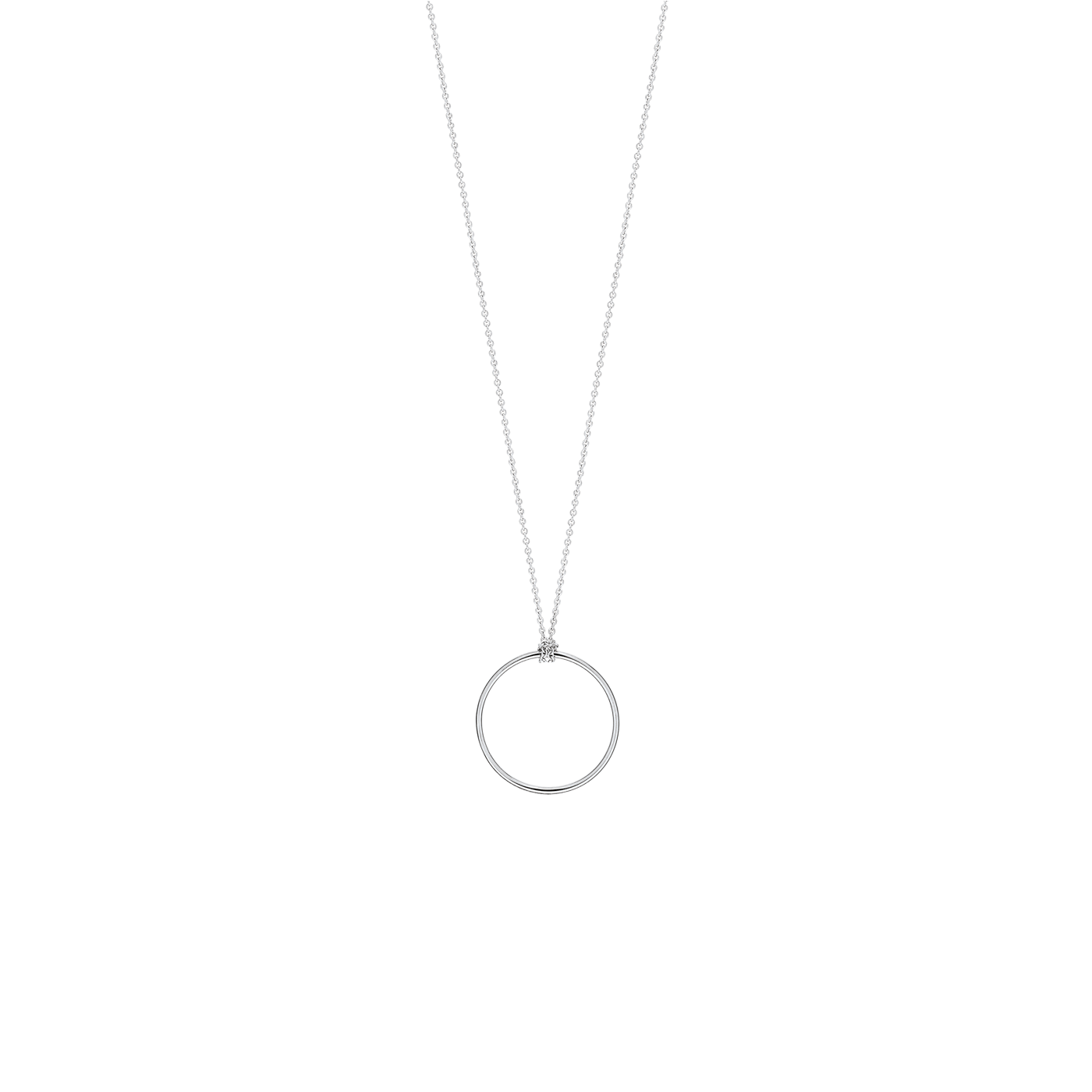 Collier Ginette NY Mini Circle en or blanc
