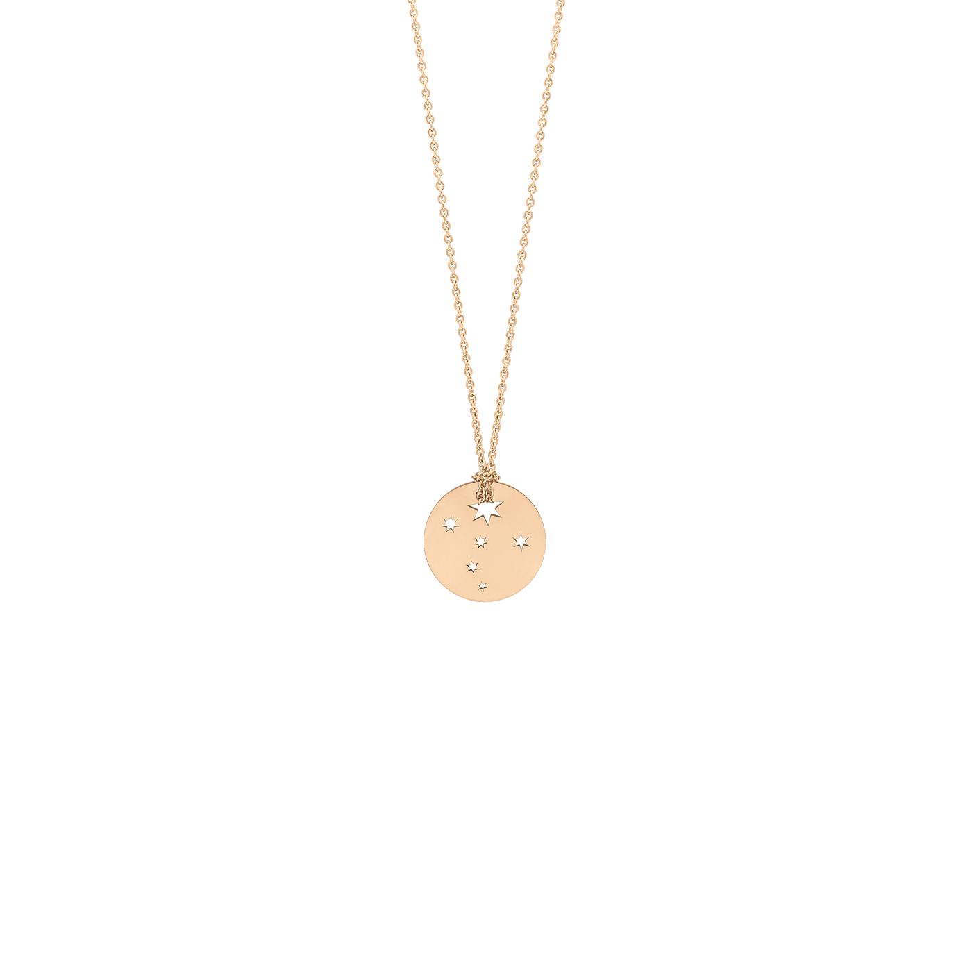 Collier Ginette NY Mini Milky Way Disc on chain en or rose - Lepage