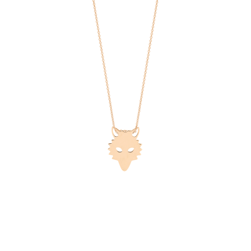 Collier Ginette NY Mini Wolf en or rose