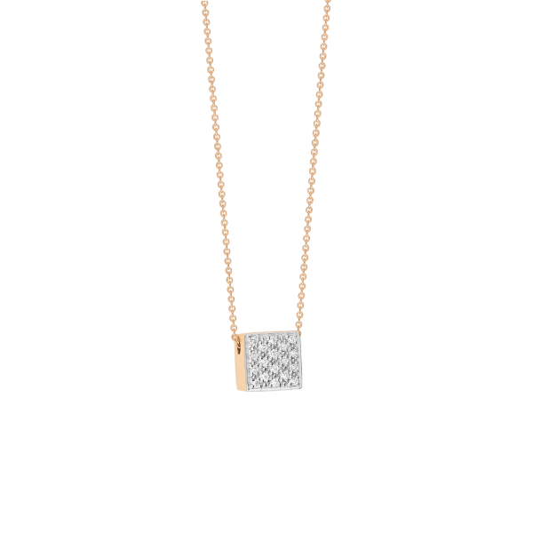 Collier Ginette NY Baby Ever Square en or rose et diamants