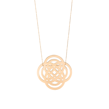 Collier Ginette NY Purity On Chain en or rose - Soldat