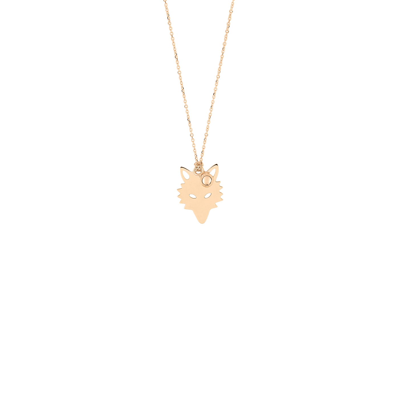 Collier Ginette NY Little Wolf et Perle en or rose, collier - Lepage