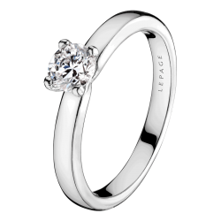 Solitaire Evidence Lepage Evidence en or blanc diamant brillant - Soldat