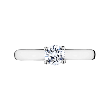 Solitaire Evidence Lepage Evidence en or blanc diamant brillant - Top