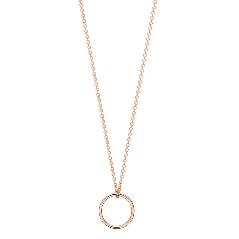 Collier Ginette NY Tiny Circle en or rose