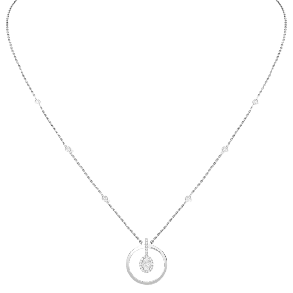 Collier Messika Glam'Azone Graphic en or blanc et diamants