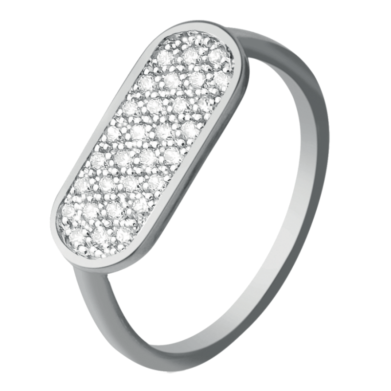 So Shocking Première fois Ring white gold and diamonds
