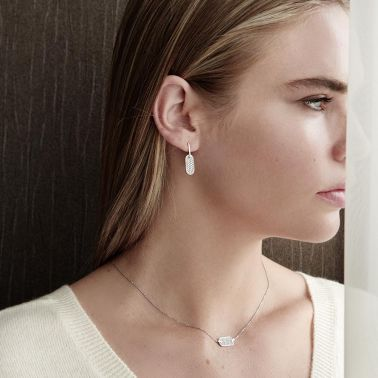 So Shocking Singulière vertical Necklace white gold and diamonds