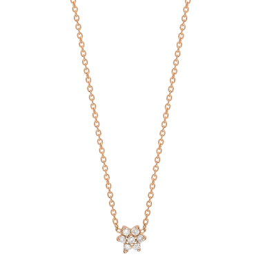 Collier Ginette NY Star Mini en or rose et diamants