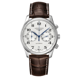 Longines Master Collection automatic chronograph watch white dial 40 mm L2.629.4.78.3