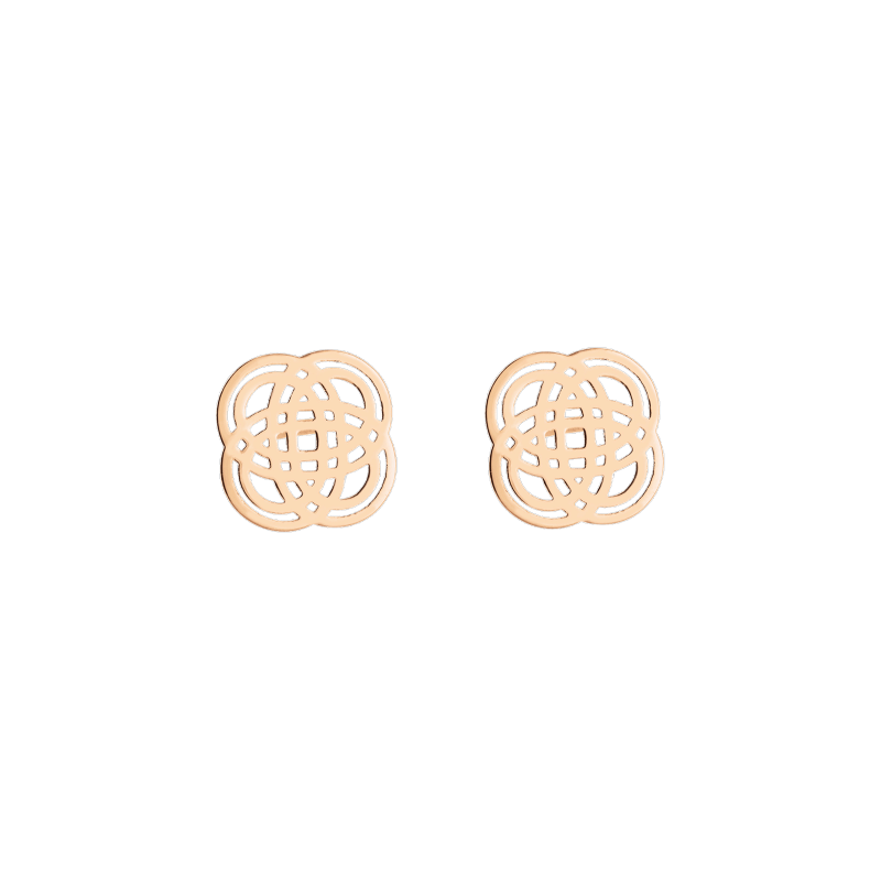 Boucles d'oreilles Ginette NY Purity Studs en or rose