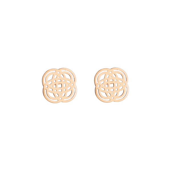 Boucles d'oreilles Ginette NY Purity Studs en or rose - Soldat