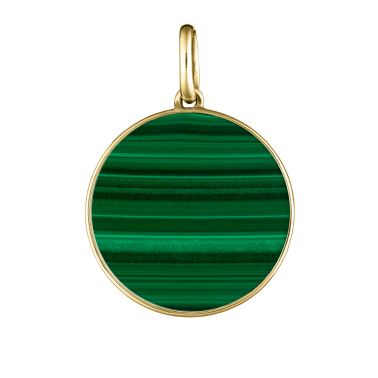 Lepage Colette Lune medal yellow gold and malachite