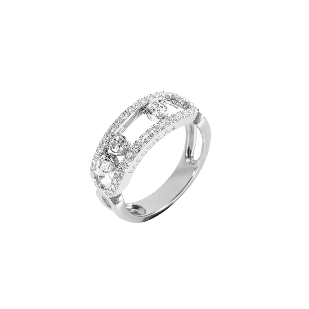 Bague Messika Move Pavee Or Blanc Et Diamants 4000g Messika Lepage