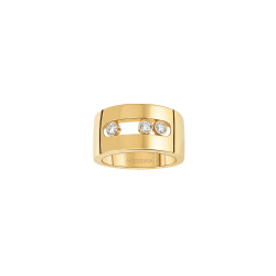 Bague Messika Move Joaillerie M en or jaune et diamants - Top
