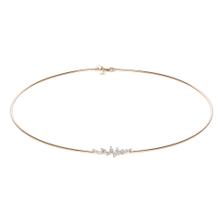 Collier Lepage Suzanne en or rose diamants