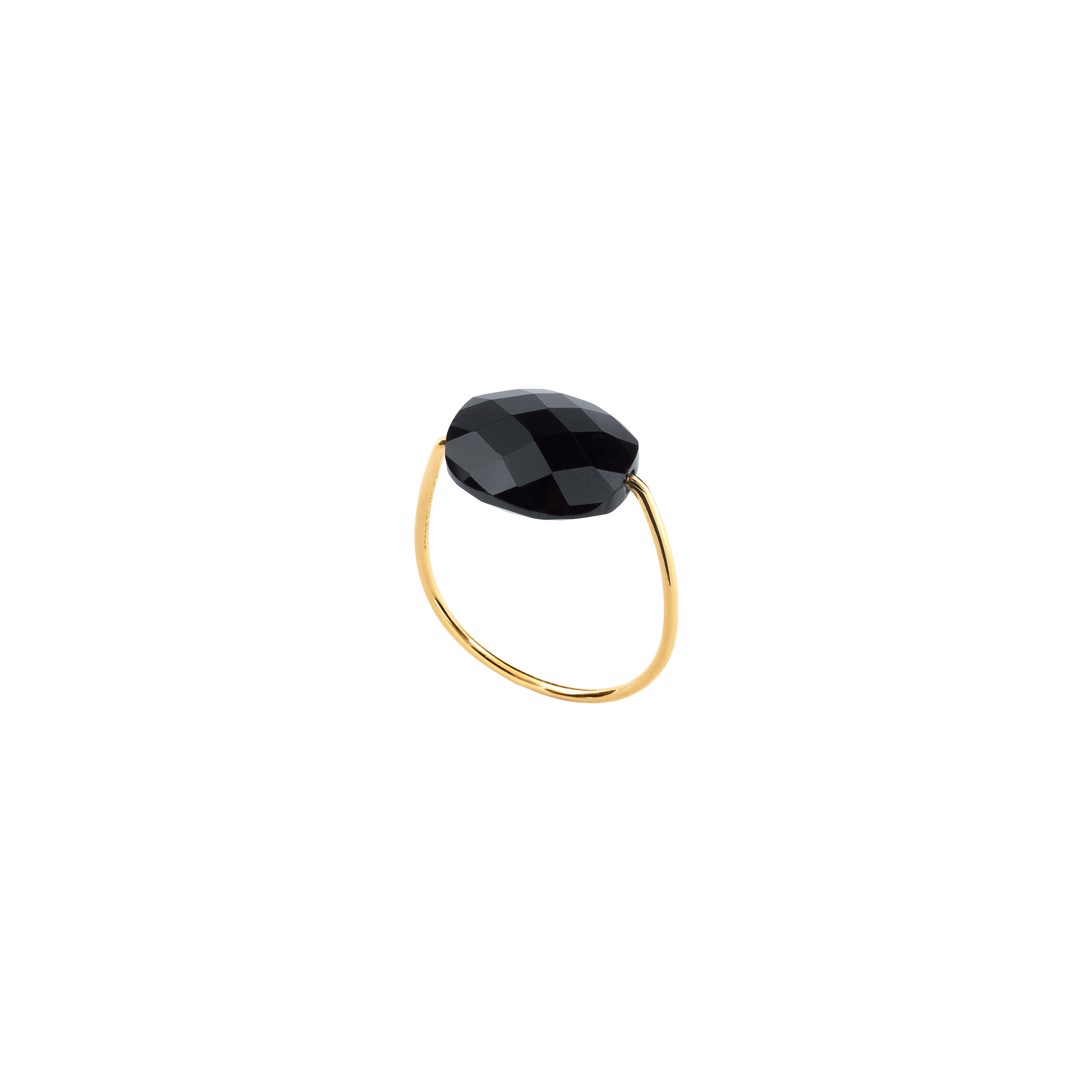 Bague Morganne Bello Friandise onyx taille coussin et or jaune
