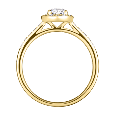 Solitaire Lepage Coquette en or jaune diamants