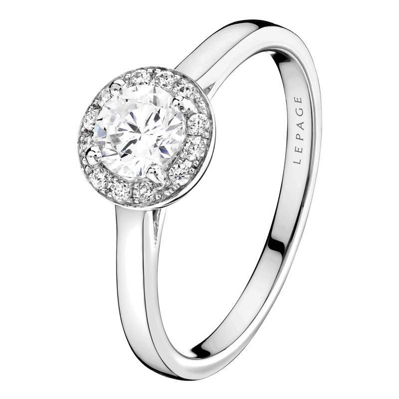 Solitaire Lepage Jolie-Coquette en or blanc diamants