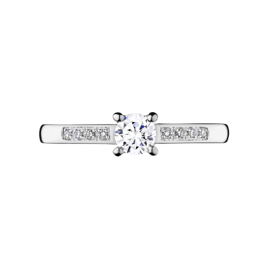 Solitaire Lepage Aristide en or blanc diamants