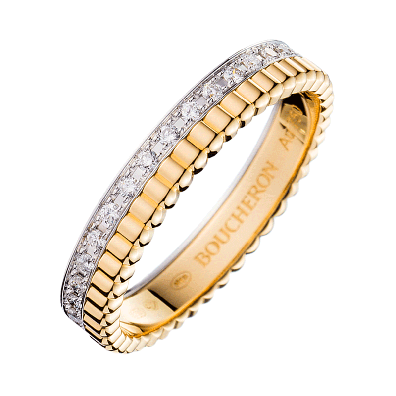 Alliance Boucheron Quatre Radiant Edition en or blanc or jaune et diamants