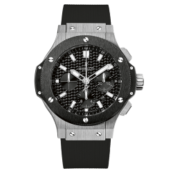 Montre Hublot Big Bang Steel Ceramic cadran fibre de carbone bracelet caoutchouc 44 mm
